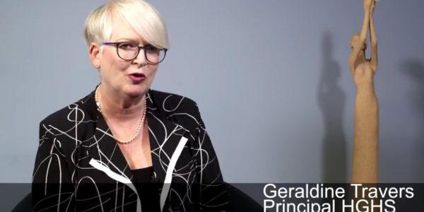 Geraldine Travers, Principal of HGHS
